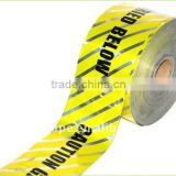 0.3mm thickness warning tape barrier tape caution tape with good glue