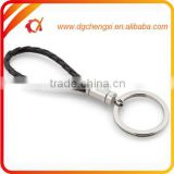 Hot sale fashion costomized color leather braided rope keychain