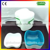 Plastic Dental Retainer Case Denture Holder Box Food Grade PP Europe Style CE Approved GT0079D