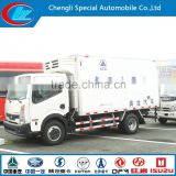 Live Fish Transport refrigerated cargo trailer Donggfeng referigerated box van 4*2 refrigerated box car