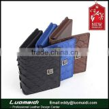 new python skin men's leather business card holder business card bag mini card bag China factory