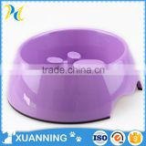 colorful lovely plastic dog bowl pet travel bowl slow feed dog food bowl footprint shape feed bowl