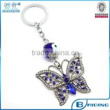 Blue Eye Butterfly Couple Keychain Keyring Key Chain Ring
