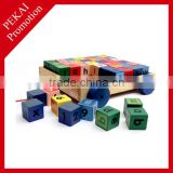 2015 promotion gift educational wholesale wooden activity cube toys China supplier