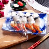 KW-0007LH-B disposable plastic sushi take away food box,disposable food containers with lids wholesale