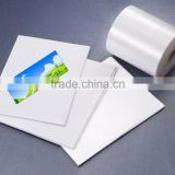 polyester satin surface thick self-adhesive backed strong glue carpet/mattress label