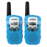 Retevis RT-388 ONE pair New Sky Blue UHF462.5625-467.7250MHz LCD Display Flashlight VOX walkie talkie for children