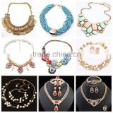 Multicolor alloy imitation choker necklace wholesale jewelry