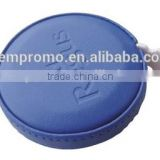 Promotional round retractable tape measure with leather cover