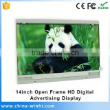 1366x768 1080p open Frame lcd tv price led tv 14 inch