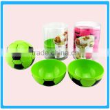 Creative 3 Pcs Disposable Football Design Salad Bowl Color Customized Plastic Football Bowl