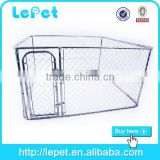 outdoor chain link rolling custom made dog cage