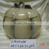 porcelain pumpkin storage container