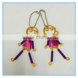 Wholesale good quality handmade beautiful couples sexy girl and boy metal pendant key chains