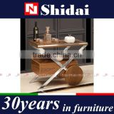 "25""Tall Kitchen Trolley Cart Wood Rolling Dining Storage Stand Countertop Basket N6404-RE"