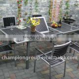 outdoor polywood furniture/polywood dining set /polywood dining extension table and chair