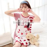 W11433G Ms. summer cartoon nightgown lovely ladies short-sleeved variety of wholesale milk silk nightdress piece pajamas