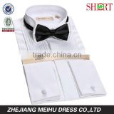 "100% cotton high quality wing-tip collar french cuff 1/4"" pleats tuxedo hirts for men"