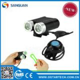 2014 New 2000lm Remote Switch Cree XM-L2 LED Bicycle Light