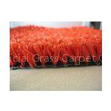 SL1002J-H, 100% PP Red Indoor Artificial Grass10mm, 2200Dtex Gauge 5/32 For Landscaping