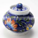 Indian Blue Pottery Jars , Jaipur Blue Pottery Burnees