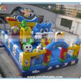 2016 funny game inflatable amusement park,inflatable funcity,inflatable jumping bouncer slide for kids