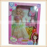 11' Plastic toy party dress girl doll