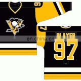 Embroidered Custom 2016 Stanley Cup Pittsburgh Penguin Hockey Jersey