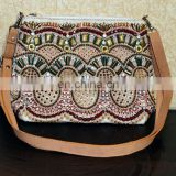 EMBROIDERED FASHION LEATHER BAG FOR LADIES GIRLS EMBELLISHED BAG