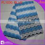 new design african lace fabric/charinter lace/african cotton lace/african tulle lace/french lace/guipure lace FL1030 blue