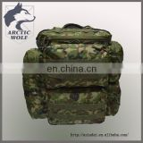multiple pouches hiking canvas military camouflage outdoor backpack