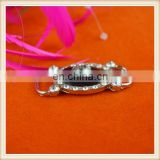 Hot fashion rhinestones slider metal buckle trim for dresses