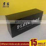 Factory custom brand block plexiglass acrylic pmma hollow block with 3D logo letters black block with 3D logo