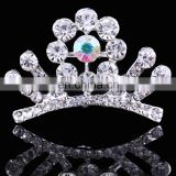 Mini Cute Sweet Kids Trendy Rhinestone Korean Style Crown Tiaras