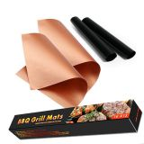 PFOA FREE High Temperature Non-stick Fireproof Charcoal BBQ Grill Mats