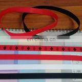 260*15*1mm environmentally friendly silicone rubber book strap with open mold