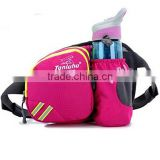 Lumbar Waist Pack - Running Bag Belt with Water Bottle Holder - Waterproof Fanny Pack with Reflective Tabs