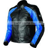 sport street jackets men leather breeze perforated black / blue