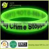 Glowing the dark cheap Customized Cheap Fashion Debossed Silicone Bracelets,welcome OEM/ODM