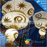Shopping Mall Hanging Ramadan Lanterns with Light Decoration atrium shopping mall decoration