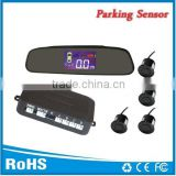 LCD parking sensor with rear view mirror lcd display smart car parking sensor system with one year warranty CE FCC