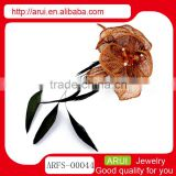 China supplier fashion fancy feather leaf corsage and hair accessory