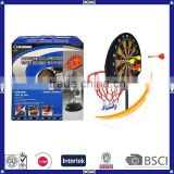 Double Usage Kids Like Basketball Hoop Set and Dart Board for Promotion