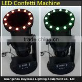 Led confetti cannon machine LED RGB 3IN1 DMX512/Remote control , confetti for wedding stage performance