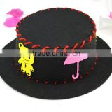 6 styles colorful design fancy handwork nonwoven kids diy puzzle hats
