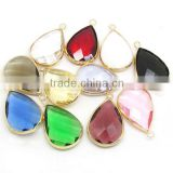 JF6577 Wholesale crystal glass bezel teardrop pendants