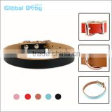 Wholesale Cheap Plain Soft Leather Pet Collar For Dogs and Cats