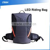 (160436) Cheap waterproof climbing hiking strong nylon backpack travelling bag with led light