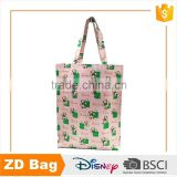 cute bear log print pvc bag handle waterproof shopping pvc bag