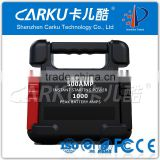 2015 hot new item CARKU 24000mAh 88.8WH Auto Jumper Battery Booster Start 500A/1000A Gasoline Diesel Car 12V/24V Jump Starter